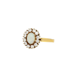 Luxus Second Hand Opal Diamant Ring